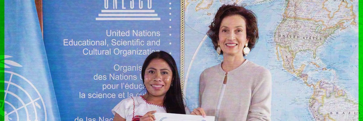 Yalitza Aparicio recibe nombramiento de Embajadora de Buena Voluntad