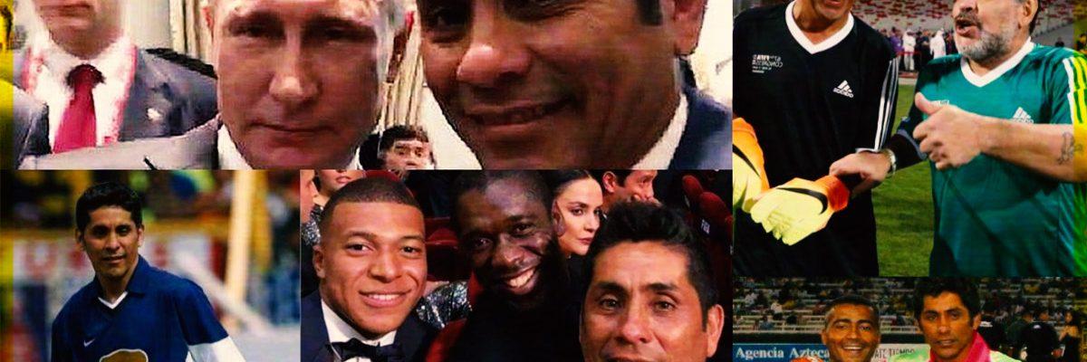 Los famosos que han tenido la suerte de tomarse foto con Jorge Campos