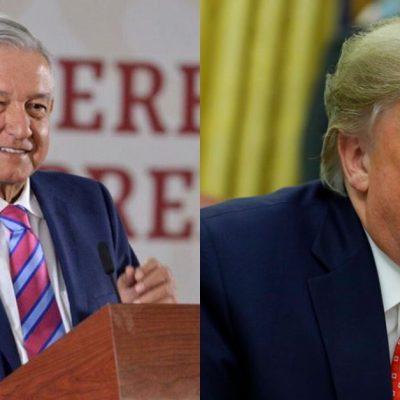 """Ante dichos de Trump, AMLO señala que """"Cooperación sí, intervencionismo no"""""""