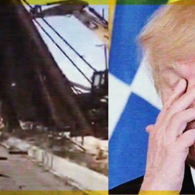 #Tómala: Se le cae el muro a Trump; vientos tiran parte de la obra y cae en México (VIDEO)