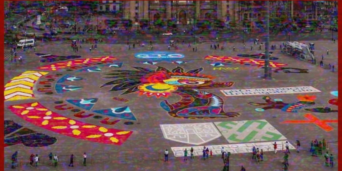 #Orgullo: Crean en el Zócalo de la CDMX monumental tapate de Uriangato, Guanajuato