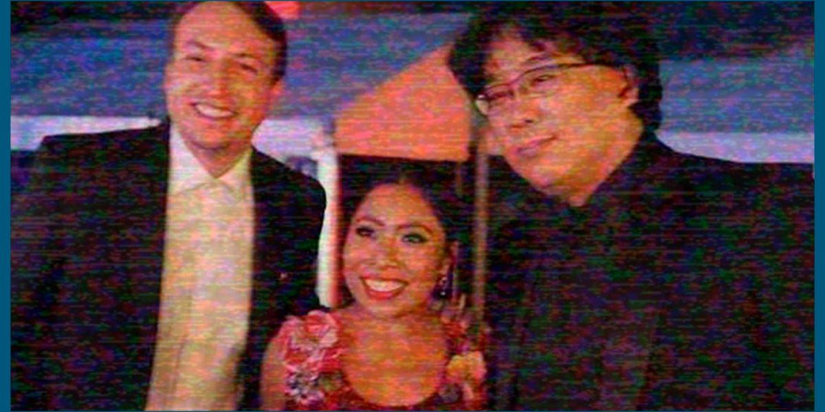 """#Orgullo: Yalitza Aparicio celebra premio de """"Parasite"""" con su director"""